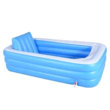 large size inflatable bathtub with L shape cushion