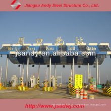 High Standard Hot Sale Steel Roof Truss Toll Station para 2017