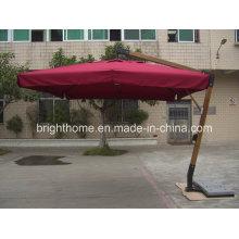 Outdoor Patio Garden a- Garde Wood Hard Umbrella