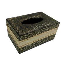 Caja rectangular del tejido del Leatherette para la oficina (A12-2001-2)