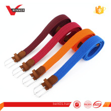 Colorful elastic stretch braided belt