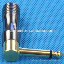 Daier Gold Plated Terminal Angle 6.3MM Jack