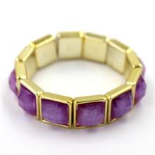 Prix d'usine Fashion Style Antque Square Gold Matel Bangle Bracelet