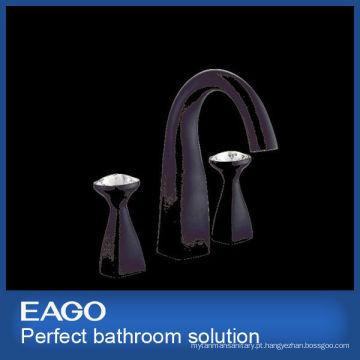 Novo design preto 2 alça latão torneira torneira misturadora (pl207b-99s)
