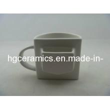 Medio taza de cerámica, taza de Pokcet