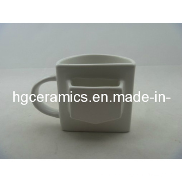 Half Ceramic Mug, Pokcet Mug