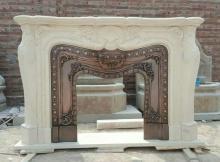 Large Size Egypt Cream Fireplace Mantel