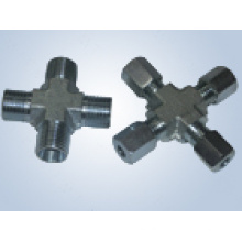 Metric Thread Bite Type Tube Fittings Replace Parker Fittings and Eaton Fittings (cross fittings)