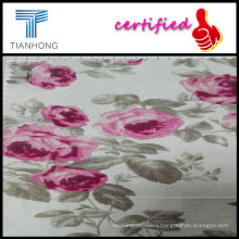 Beauty Flowers Printed 120GSM Cotton Woven Flannel Fabrics for Bedding Sheet