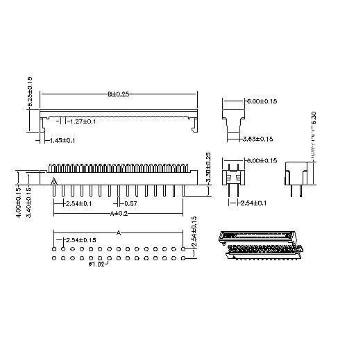 FDDS02 2.54MM DIP PLUG CONNECTOR-Model