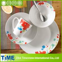 Cena de cerámica de la porcelana 16PCS fijada con el diseño floral (TM01066)