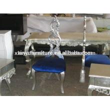 Antike Holz Stoff Kissen Stuhl XYD088
