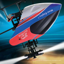 Neuf Eagles 3D 2.4GHz 6CH RC Helicopter avec Gyro