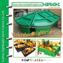 Высококачественный акриловый треугольник с концевой полкой для овощей и фруктов