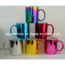 Electroplating Ceramic Mug, Metallic Mug