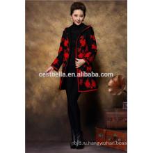 Китайский кардиган платье шерсть пальто вышитые платье пальто