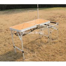 Tabela de dobradura acampando da Multi-Função da liga de alumínio, tabela de dobramento portátil exterior