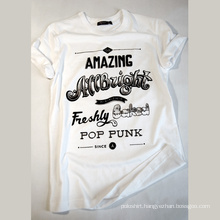 Rubber Printing Promotional Top Quality 100% Cotton T-Shirt