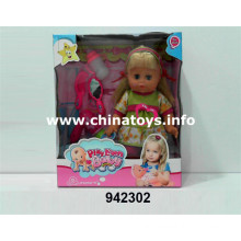 "Promotional New 14""Soft Plastic Doll with PEE (942302)"