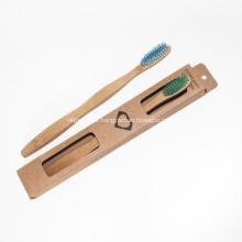 Escova de dentes de bambu ambiental sem cerdas macias BPA