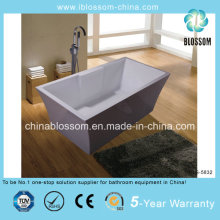 Hangzhou Xiaoshan acrílico retangular banheira autônomas (BLS-5832)