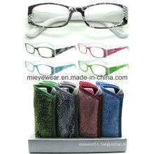 Ladies Fashion Plastic Reading Glasses (MRP21659)