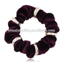 Мода металлический фланель с веревкой простой лентой для волос