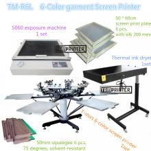Machine d'impression d'écran t-shirt à six couleurs TM-R6k