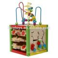 Pädagogische Spielzeug-Aktivität Cube Wooden Playing Cube Spielzeug