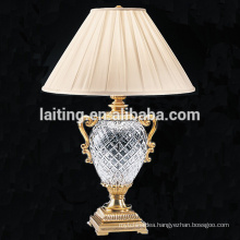 Classic Style Antique Crystal Chandelier Brass Table Lamp for Hotels Decoration