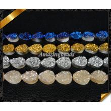 Druzy Agate Beads, Bijoux Stone Durzy, Durzy Cabochon, 12X16mm Teardrop Druzy (YAD030)