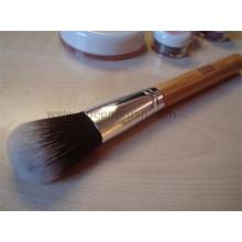 De gama alta de bambú mango cabra cabello pincel cosméticos cepillo de polvo
