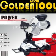 Larga Vida 255mm 1800w Motor De Inducción De Corte De Madera Industrial Mitre Saw Machine Cut Off Saw Para Corte De Aluminio