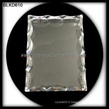 Armature de photo des photo cristal blanc de la qualité K9 pour gravure laser