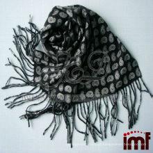 Cachecol de lã de impressão reversível para homem