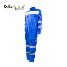 Синяя светоотражающая рабочая ткань FR Безопасный комбинезон