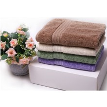 100 % coton de couleur ensemble serviette hometextile