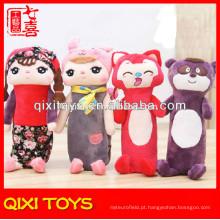 sacos animais feitos sob encomenda da pena e do lápis do luxuoso do estilo da venda quente para crianças