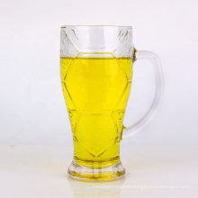hot selling 420ml 620ml clear beer glass cup tea cup coffee cup with handle