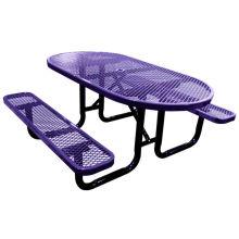 Aço de carbono, mesa com cadeiras de jantar