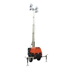 Mast 7m metal halide industrial mobile lighting tower