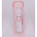 Transparent plastic cosmetic bottles