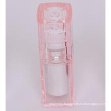 Transparent plastic cosmetic bottles