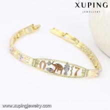 74535 Mode Multicolore Animal Elephant-Gravé Imitation Femmes Bijoux Bracelet en Cuivre Environnemental