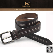 2015 OEM cowhide New Style genuine belts for rotating buckle