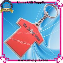 T-Shirt PVC-Schlüsselring, Plastikschlüsselring (m-PK21)