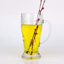 20oz soccer ball clear tea beer glass cup drinking with handle