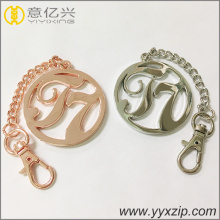 brand logo engraved name keychains for bags