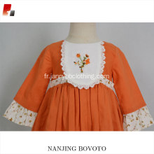 nouvelle conception robe de broderie robes florales bébé fille