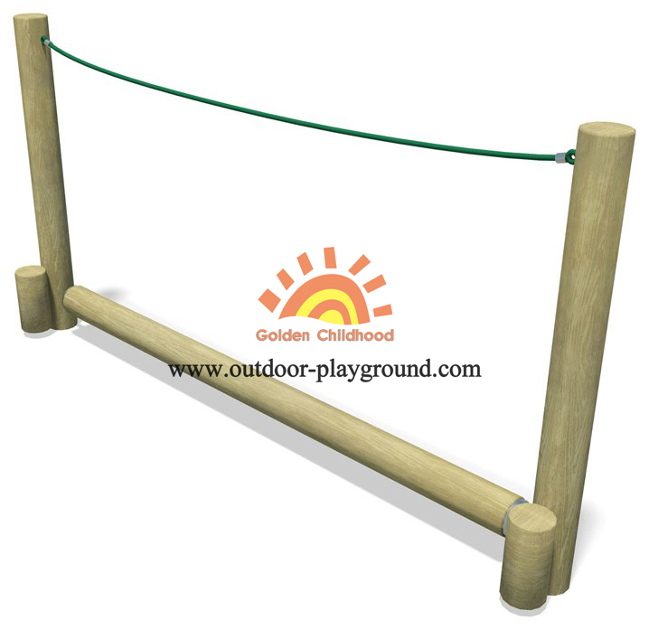 Wooden Roll Rope Balance Playground